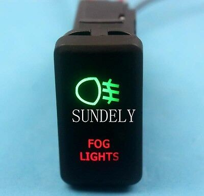 Rocker switch 617SR 12V FOG LIGHTS Horizontal Laser etched LED red 20amp