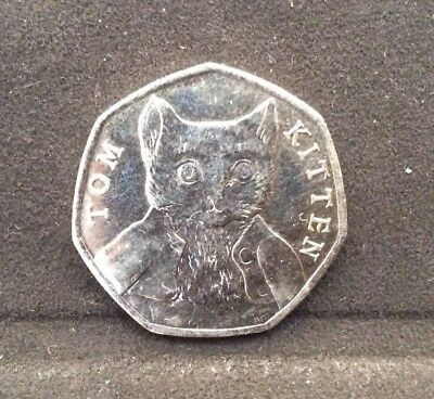 50p Coin 2017 Tom Kitten Circulated FREEPOST Beatrix Potter 3