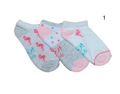 Women Girls Children Kids Cotton Summer Ankle Trainer Socks Multi Buy 3 Pairs 3