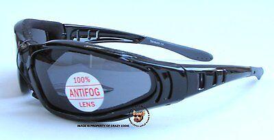 Global Vision Ultra Riding Glasses Eva Foam Anti-Fog Motorcycle Sunglasses