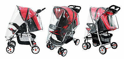 Universal Clear Waterproof Rain Cover Wind Shield Fit Most Strollers Pushchairs 2