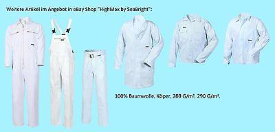 ohne Bund Arbeitsjacke Jacke Maler weiß Labor 100/% Baumwolle BW 290G Food Neu