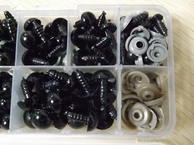 100Pc/Set 6-12mm Black Plastic Safety Eye For Teddy Bear Doll Animal Puppet Toy