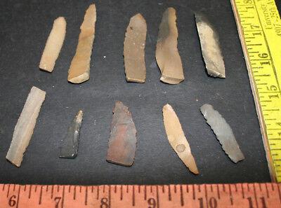 10 Egyptian Faiyum Predynastic Flint Flaked Hand Stone Tools 7400-6400 BC #1 4