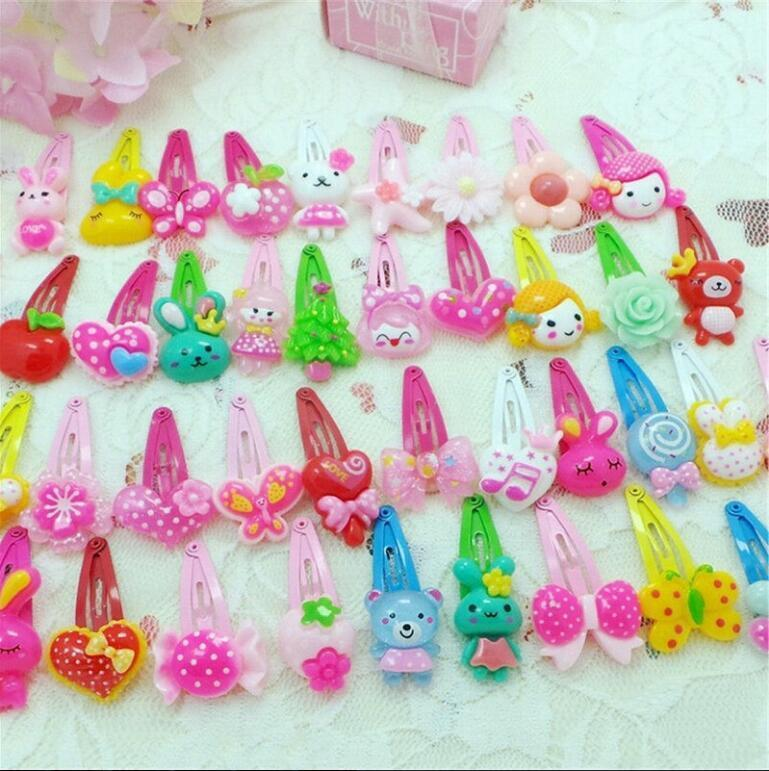 Wholesale 20pcs/Sets Mixed Cartoon Baby Kids Girls HairPin Hair Clips Jewelry- 2
