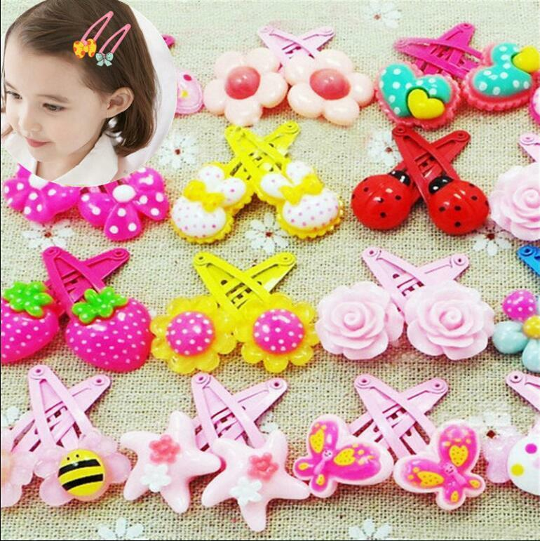 Wholesale 20pcs/Sets Mixed Cartoon Baby Kids Girls HairPin Hair Clips Jewelry- 3