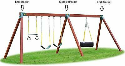 Eastern Jungle Gym Easy 1-2-3 A-Frame 2 Brackets for Swing Set with All Hardware 12