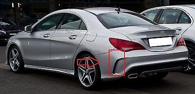 Für Mercedes-Benz CLA 45 AMG W117 Heckdiffusor Diffusor Nightpaket Schwarz
