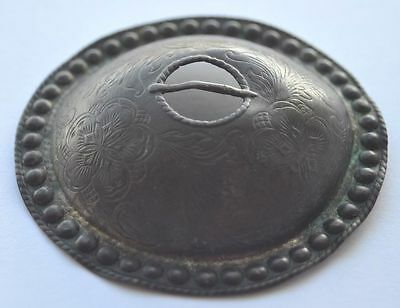 1900s Imperial Russia Large Ethnic Woman's Decoration Coat Buckle Ornated Fibula
