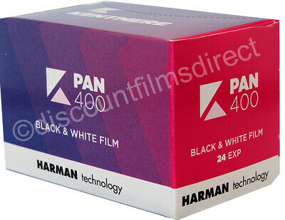 4 x KENTMERE PAN  (ILFORD) 35mm 24exp B & W FILM TRIAL PACK by 1st Class Post 3