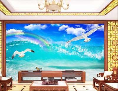 Inverse Brave Doves 3D Full Wall Mural Photo Wallpaper Printing Home Kids Decor