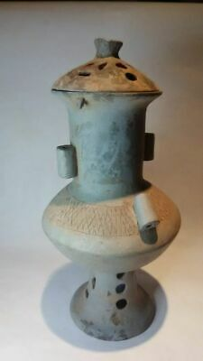 Rare Silla Korean Pottery Urn with perforated lid 10