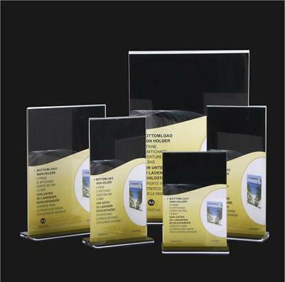 DL A5 A4 A3 Size Double Sided Sign Holder Acrylic Retail Display Stands Menu 2