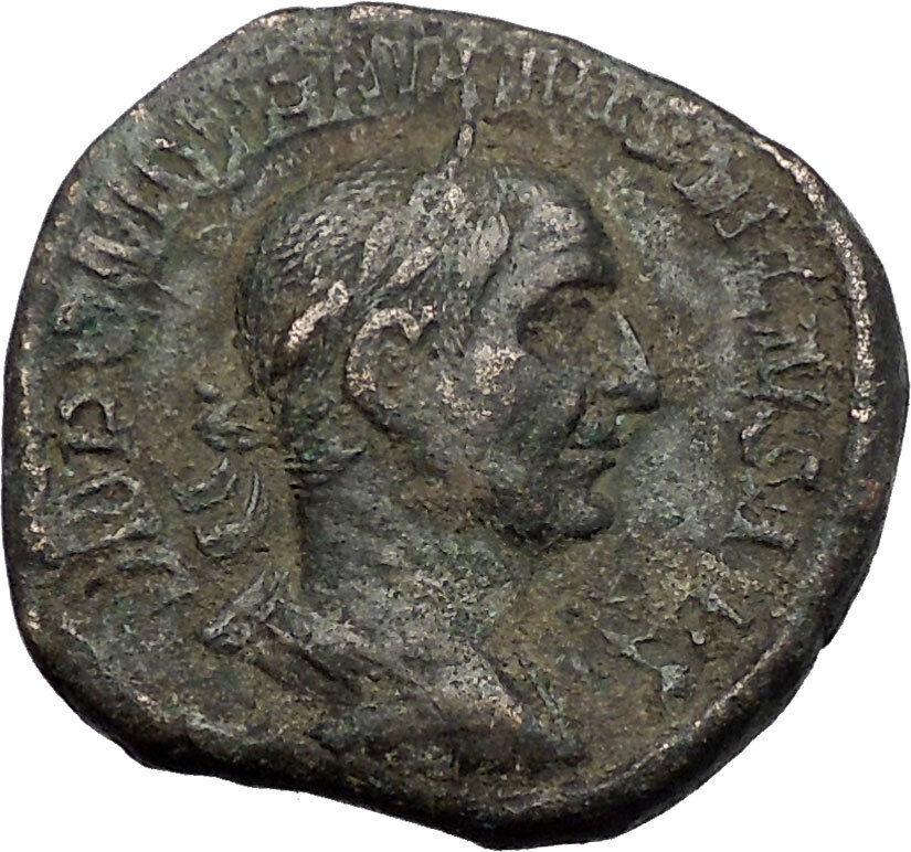 TRAJAN DECIUS 249AD Rome Sestertius Pannonia Authentic Ancient Roman Coin i56210 2