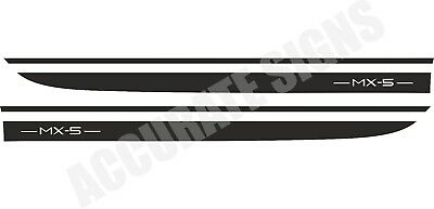 CAR DECALS GRAPHICS ANY COLOUR MAZDA MX5 SIDE STRIPES PAIR