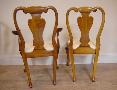 10 English Queen Anne Walnut Dining Chairs Ann Chair 4