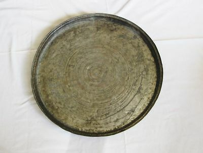 Antique big copper baking dish tray Ottoman Turkish hand hammered solid copper 5