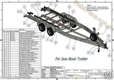 Trailer Plans - BOAT TRAILER PLANS - 7m(21ft) Monohull -PLANS ON USB Flash Drive 8
