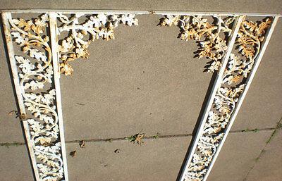SALE Antique Cast Iron Porch Post Corbel's Acorn Oak Leave Architectural Salvage