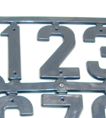 Beekeeping Grey Plastic Hive Marker Number Signs x 2