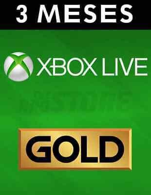 Suscripción Xbox Live Gold De 3 Meses  Consulta ahorrar gastos envío 2