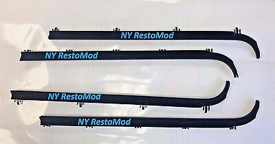 87-96 Ford F150 Truck Window Felts Rubber Seal Molded Sweeps 4 pc KIT PREMIUM 9