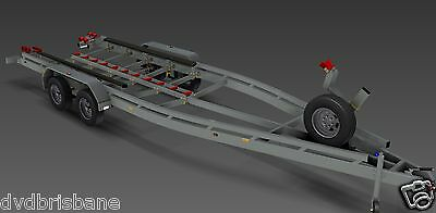 Trailer Plans - BOAT TRAILER PLAN - 7m (21ft) Mono-hull - PLANS ON CD-ROM 2