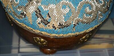 A Pair Of Antique Beaded Foot Stools 7