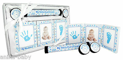 New Baby Keepsake Gift Set Christening Present Boy Girl - Silver Pink Blue Gold 6