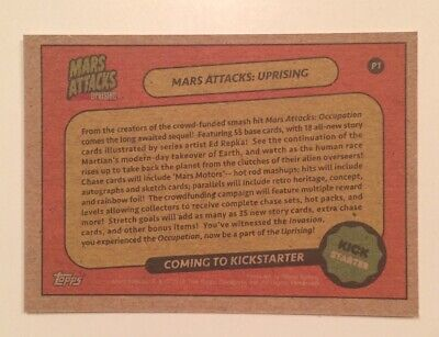 NYCC 2019 Topps Mars Attacks Uprising P1 Promo Trading Card Collectible Pair 3