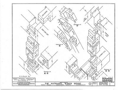 TIMBER FRAME COLONIAL cottage, architectural plans, detailed frame ...
