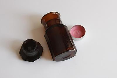 Apothekerflasche, Form selten, NATR. HYDROPHOSP rund mit 4 Kanten,alt,emailliert