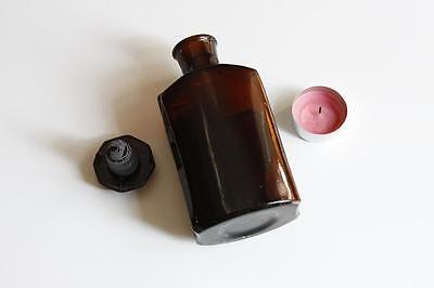 Apothekerflasche, Form selten, SIR. CERASI rund mit 4 Kanten, alt, emailliert