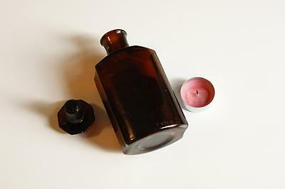 Apothekerflasche, Form selten, LIQ. CARBON. DET rund mit 4 Kanten,alt,emailliert 4