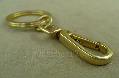 Handmade Solid Brass Key Chain Holder keychains with snap hook keyrings