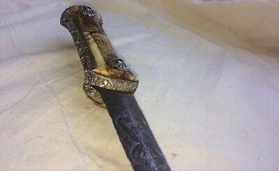 Antique Rare Ottoman Turkish Balkan Court Dagger- Knife Yatagan 4