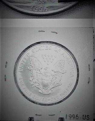 1996 Silver American Eagle BU 1 oz Coin US $1 Dollar Uncirculated Key Date *096 6