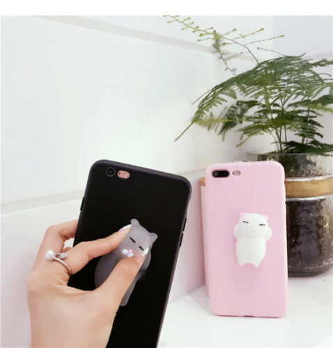 a4f4aea6810b3f iPhone 5 5s 6 6s 7 8Plus Lovely Squishy 3D Animal Cat TPU Phone Case Cover  Cute 6 6 of 8 ...