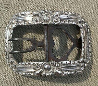 ... Ancienne boucle de chaussure fer forgé et argent massif fin XVIII ème 5ccc1d3b5b6