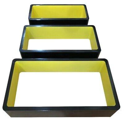 Set of 3 Floating Wall Shelf Floating Shelves Storage living Lounge Wood Cube 16 11