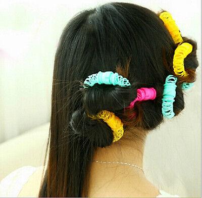 Hairdress Magic Bendy Hair Styling Roller Curler Spiral Curls DIY Tool  8 Pcs
