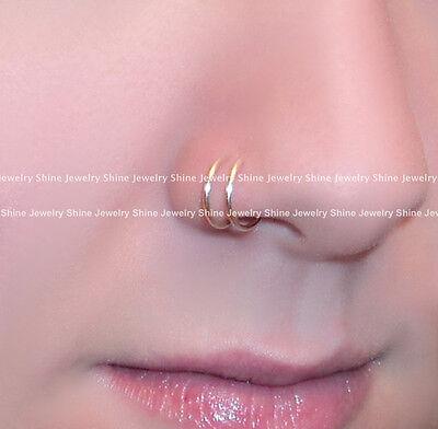 8 - 18mm Fake Piercing Hoop Ring Spring Clip On Lip Nose Septum Ear Earrings 1PC 4
