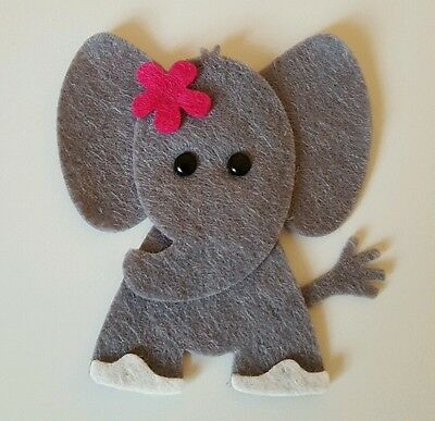 Set of 4 Crochet Animals Squirrel Applique Elephant Crochet | Etsy | 387x400