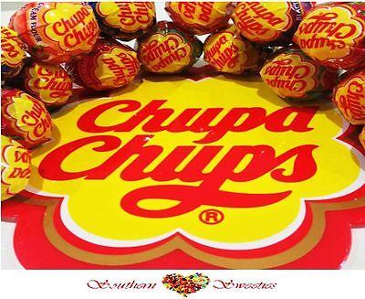 100 CHUPA CHUPS LOLLIPOPS  lollies lollypops chupa chups