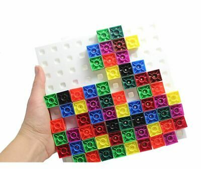 100 x 2cm Snap Cubes & Board - Counting Linking Building Maths Early Learning 7