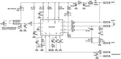 UNIVERSAL MOTOR SPEED controller, TDA1085C, PCB assembled -1pcs, new