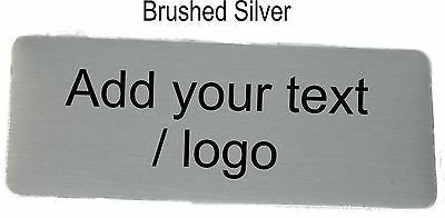 Personalised BUDGET NAME BADGE 8x3cm WORK BADGES PIN BACK logo custom made tag 4