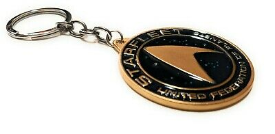 STAR TREK STARFLEET Metal Key chain Gold color Collectible gift decor US seller 4