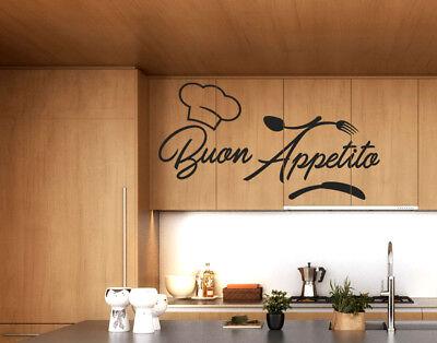 STICKERS ADESIVO MURALE adesivi murali per cucina buon ...