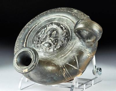 Greek Blackware Guttus with Zeus Lot 25